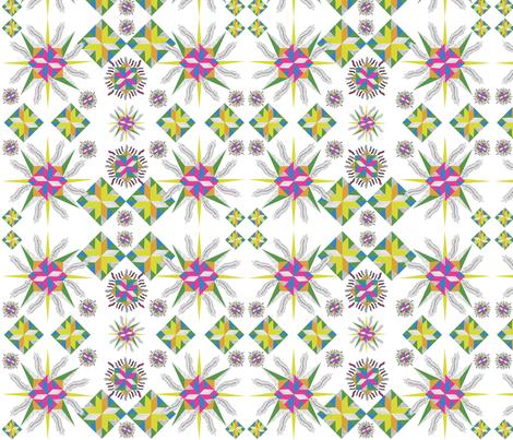 Stars with Feathers fabric by kanikamathur on Spoonflower - custom fabric