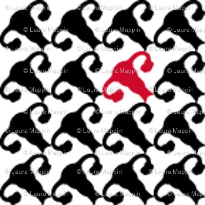 Uterus Houndstooth - One Red