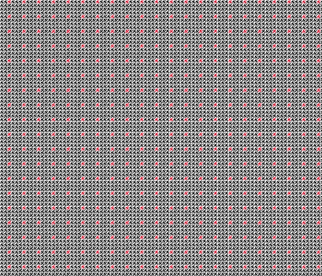 Uterus Houndstooth - One Red fabric by our_taboo_museum on Spoonflower - custom fabric