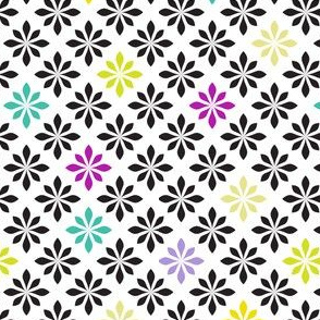 stylized florals retro colors 2