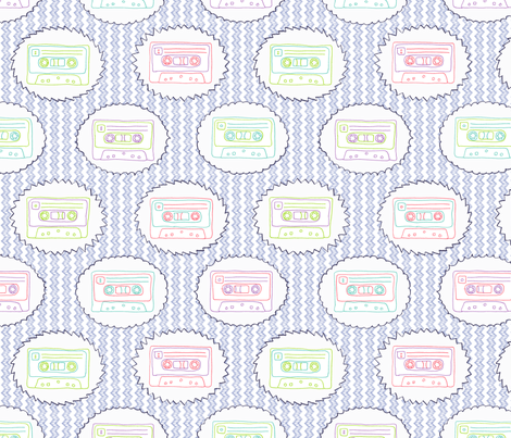 Tape Song: 80s Embroidery Mix fabric by leighr on Spoonflower - custom fabric