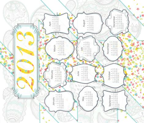 2013 Cotton Tea Towel fabric by kfay on Spoonflower - custom fabric