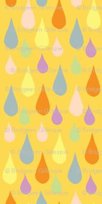 Multi Coloured Rain - Yellow