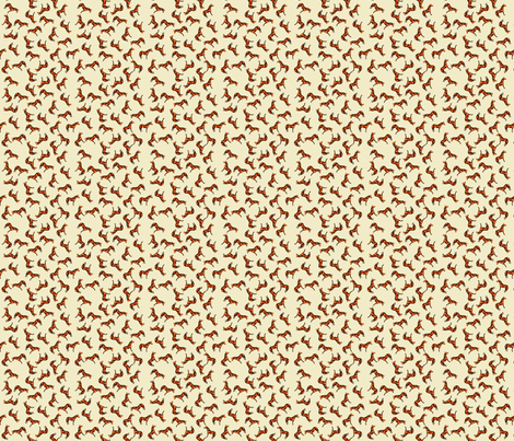 Scattered Thoroughbreds Cream fabric by shenlei on Spoonflower - custom fabric