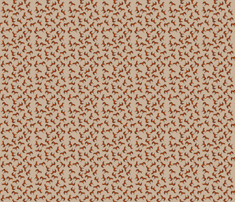 Scattered Thoroughbreds Stone fabric by shenlei on Spoonflower - custom fabric