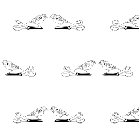 button bird on scissors fabric by carrie_narducci on Spoonflower - custom fabric