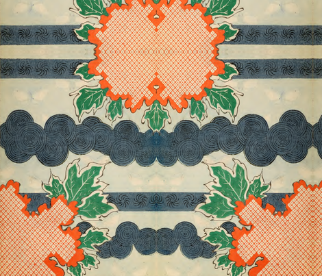 Orange and blue fabric by quinnanya on Spoonflower - custom fabric