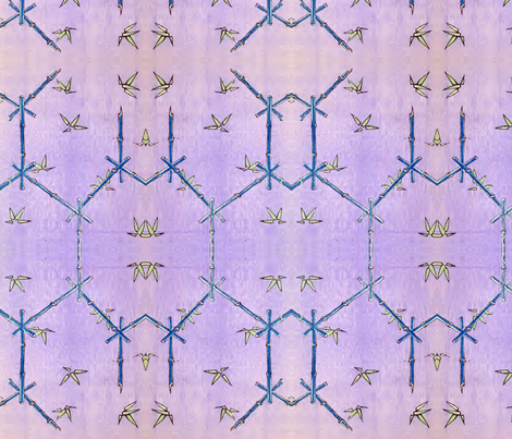 Blue bamboo fabric by quinnanya on Spoonflower - custom fabric