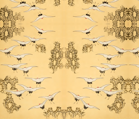 Birds and spiderwebs fabric by quinnanya on Spoonflower - custom fabric