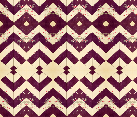 Purple geometric fabric by quinnanya on Spoonflower - custom fabric