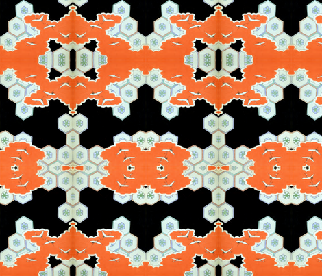 Halloween-esque fabric by quinnanya on Spoonflower - custom fabric