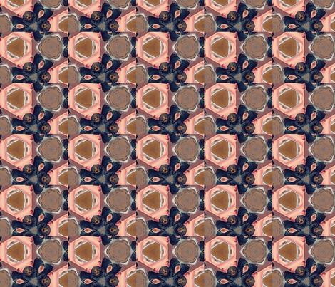 Natural Kaleidescope fabric by ceruleana_fiber_arts on Spoonflower - custom fabric