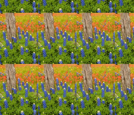 Texas Bluebonnets fabric by ceruleana_fiber_arts on Spoonflower - custom fabric