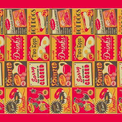 Retro Kitchen (Advertising) ~ Tea Towel **FOR LINEN**