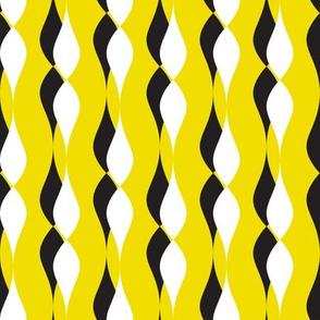 shadow petal lines - yellow