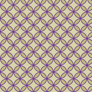 circles diamonds olive eggplant