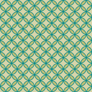 circles diamonds olive teal
