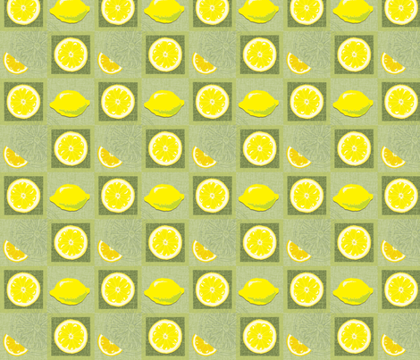 lemon flavoured squares fabric by bippidiiboppidii on Spoonflower - custom fabric
