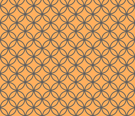 circles diamonds tangerine iron fabric by mojiarts on Spoonflower - custom fabric