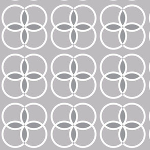 Gray Geometric Circles