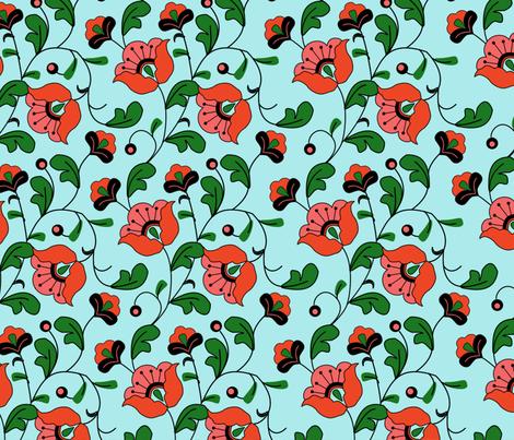 fleur_elise_yard fabric by suziwollman on Spoonflower - custom fabric