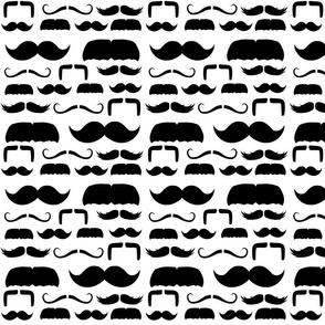 mustache stripes