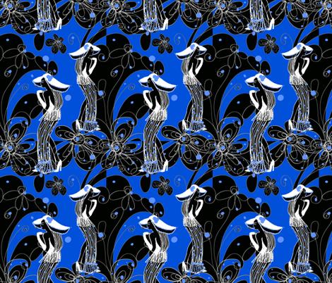 do I know you in blue fabric by kociara on Spoonflower - custom fabric
