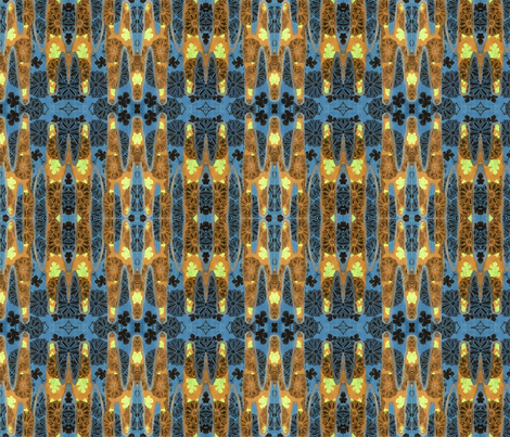 Brown and blue fabric by quinnanya on Spoonflower - custom fabric