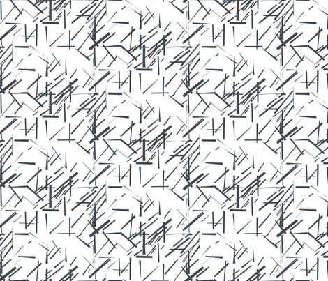 MODERNITY_Galaxy_Konstructivist_charcoal_white fabric by izeondesign on Spoonflower - custom fabric
