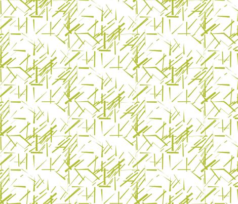 MODERNITY_Galaxy_Konstructivist_White_Lime fabric by izeondesign on Spoonflower - custom fabric