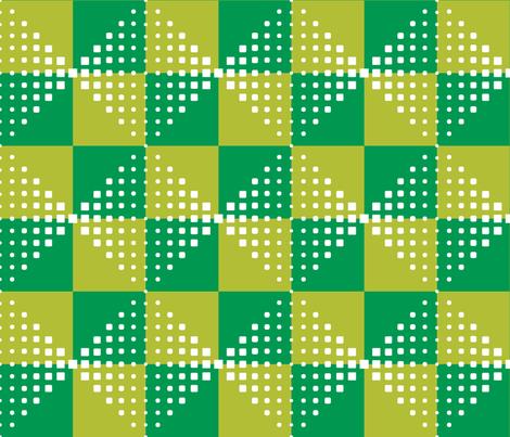 MODERNITY_Galaxy_Utrecht_green fabric by izeondesign on Spoonflower - custom fabric