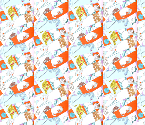 Catch 'em all fabric by quinnanya on Spoonflower - custom fabric
