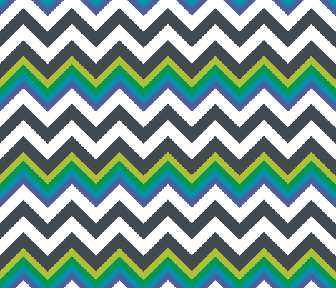 MODERNITY_Galaxy_Cool_Chevron fabric by izeondesign on Spoonflower - custom fabric