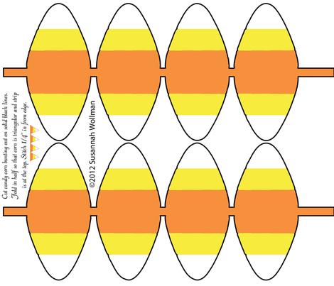 candycorn_bunting fabric by suziwollman on Spoonflower - custom fabric