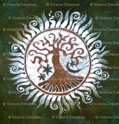 Green Tree of Life by Batikwalla