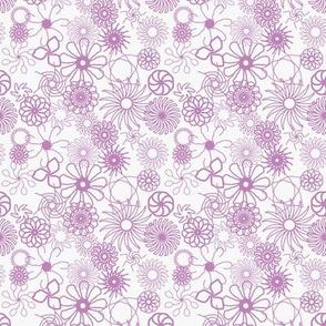 Rosaces_violettes fond blanc