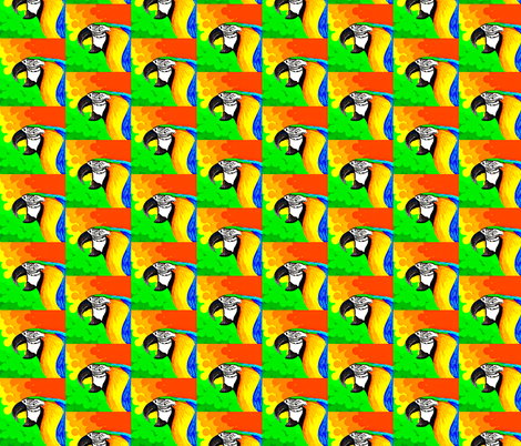 Parrot Talk fabric by andybee on Spoonflower - custom fabric