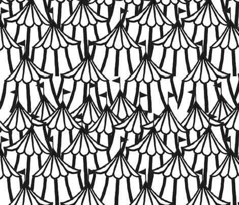 Circus Tents - black fabric by stasya_designs on Spoonflower - custom fabric
