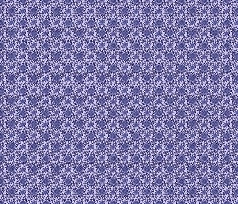 Blue Flowers on a Web fabric by olumna on Spoonflower - custom fabric