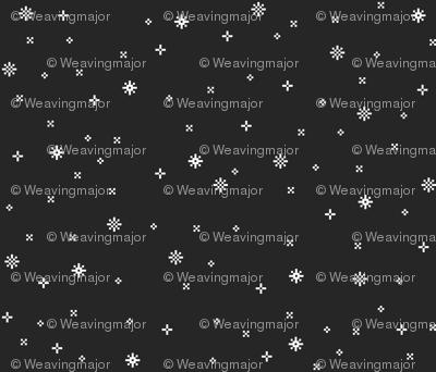 eight-bit snowflakes