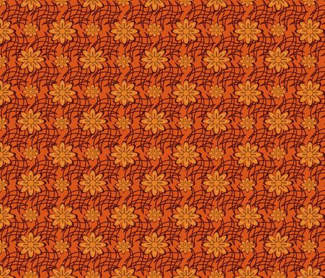 Orange Flower on a Web fabric by olumna on Spoonflower - custom fabric