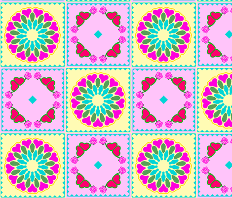 EmbroideryRoseAndHeartDesigns-colored fabric by grannynan on Spoonflower - custom fabric