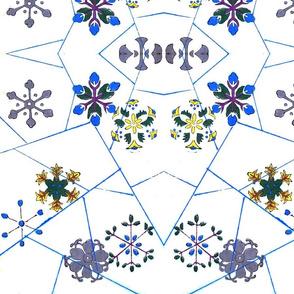 Flower-snowflakes