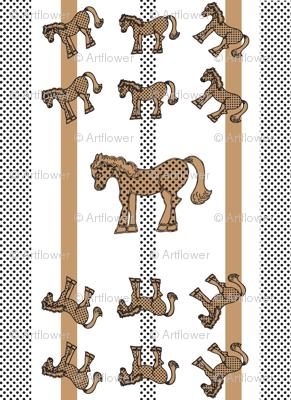 Brown Polka Dot Horse Pattern 2