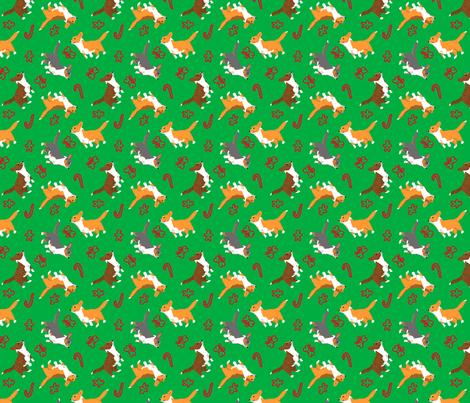 Ditzy seasons - Christmas Cardigans fabric by rusticcorgi on Spoonflower - custom fabric