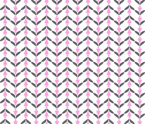 herringbone grey pink 3 fabric by mojiarts on Spoonflower - custom fabric
