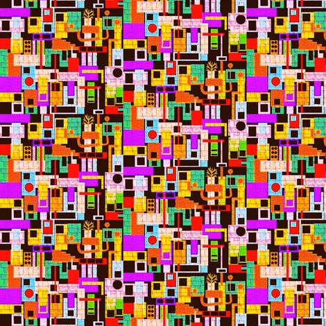 Tiny Amsterdam fabric by boris_thumbkin on Spoonflower - custom fabric