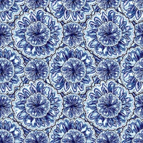 tie-died jonquils - Delphin fabric by glimmericks on Spoonflower - custom fabric