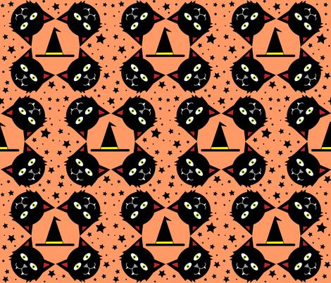 The Black Cat fabric by kel_marie_n on Spoonflower - custom fabric
