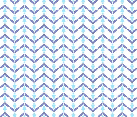herringbone blues fabric by mojiarts on Spoonflower - custom fabric